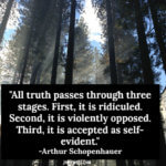 All Truths Passes Through Three Stages