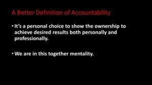 Accountability Strategy