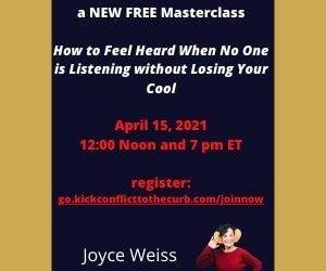 masterclass | Joyce Weiss | feeling heard